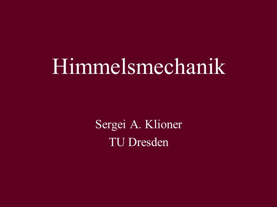 Sergei A. Klioner TU Dresden