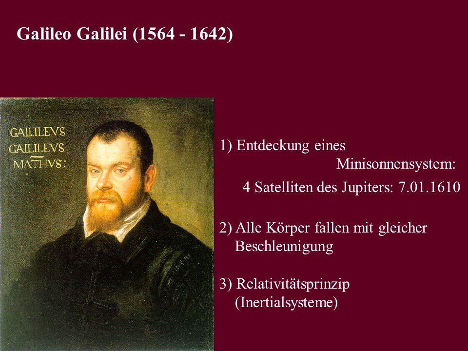 Galileo Galilei (1564 - 1642) 1) Entdeckung eines Minisonnensystem: