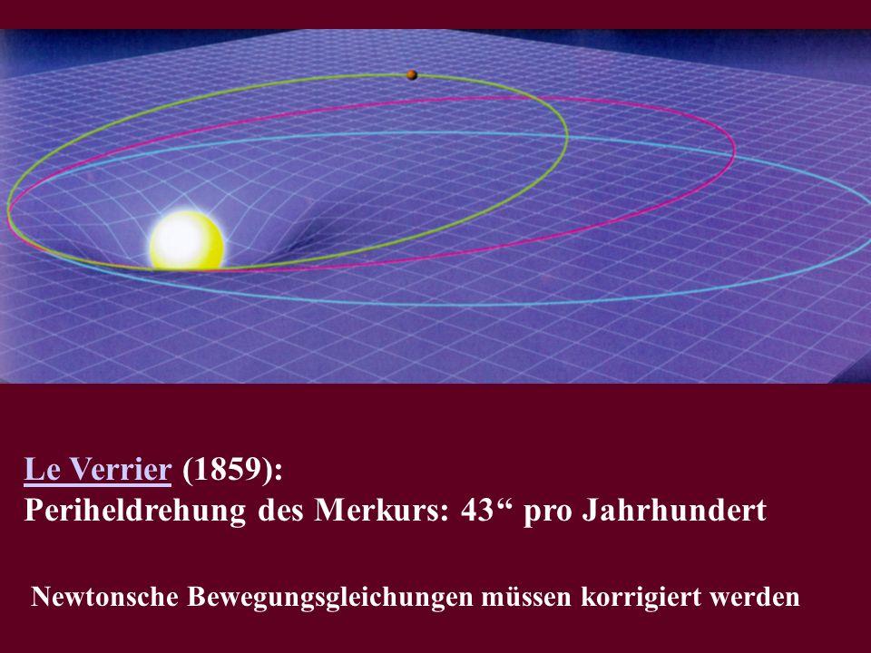 Periheldrehung des Merkurs: 43'' pro Jahrhundert