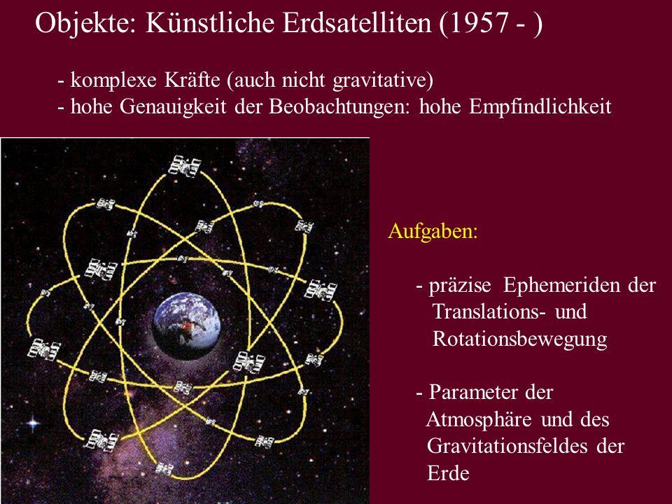 Objekte: Künstliche Erdsatelliten (1957 - )