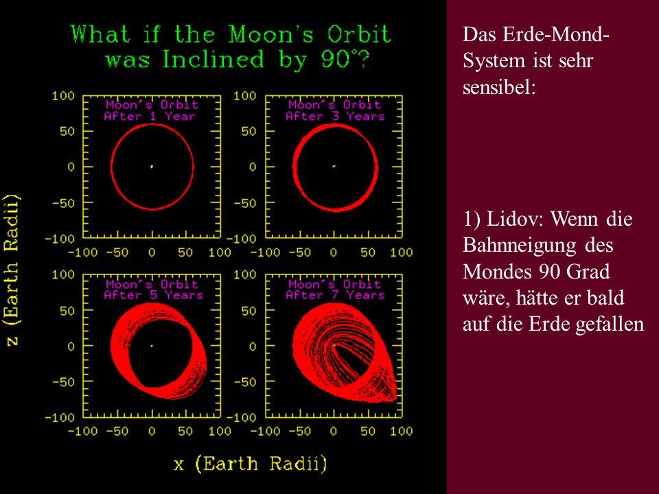 Das Erde-Mond-System ist sehr sensibel: