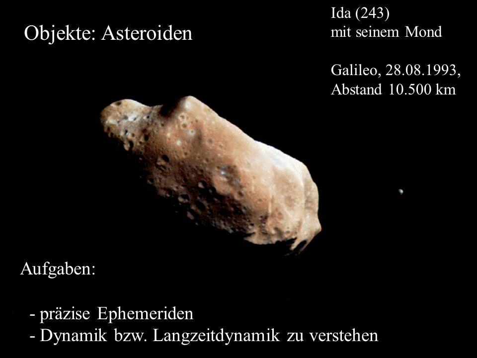 Objekte: Asteroiden Aufgaben: - präzise Ephemeriden