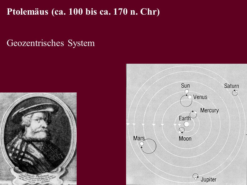 Ptolemäus (ca. 100 bis ca. 170 n. Chr)