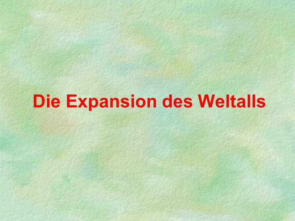 Die Expansion des Weltalls