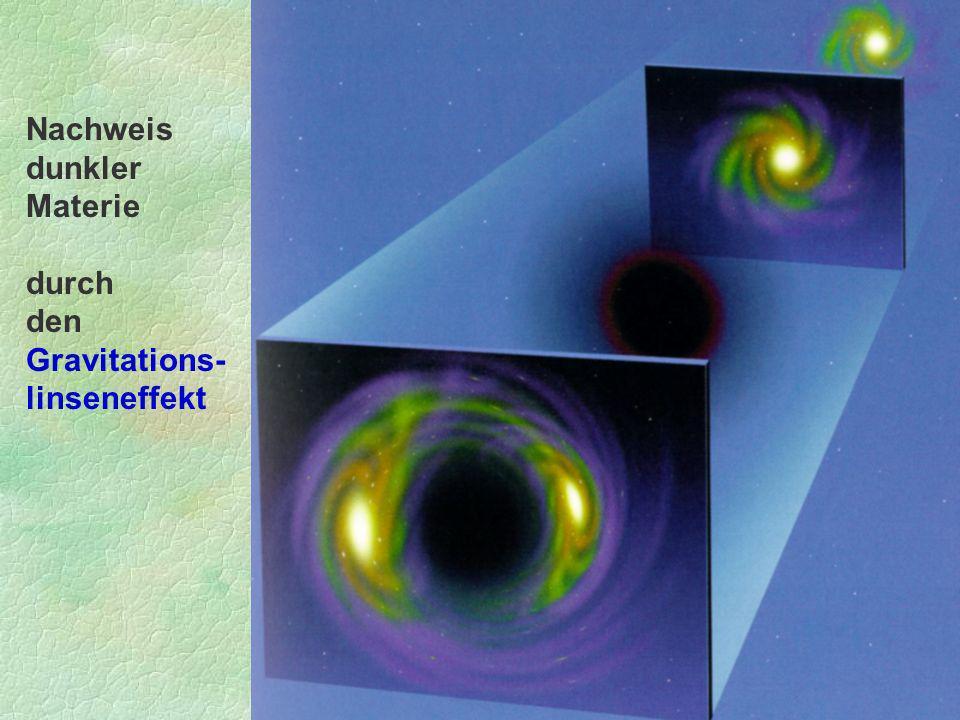 Nachweis dunkler Materie durch den Gravitations- linseneffekt
