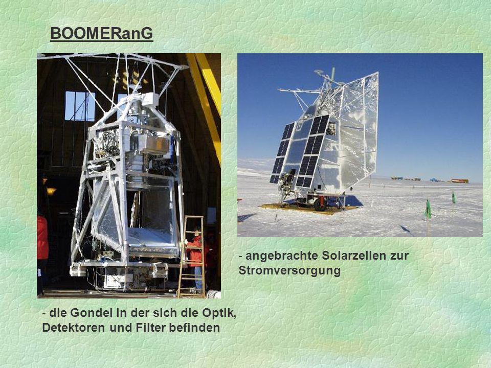 BOOMERanG - angebrachte Solarzellen zur Stromversorgung