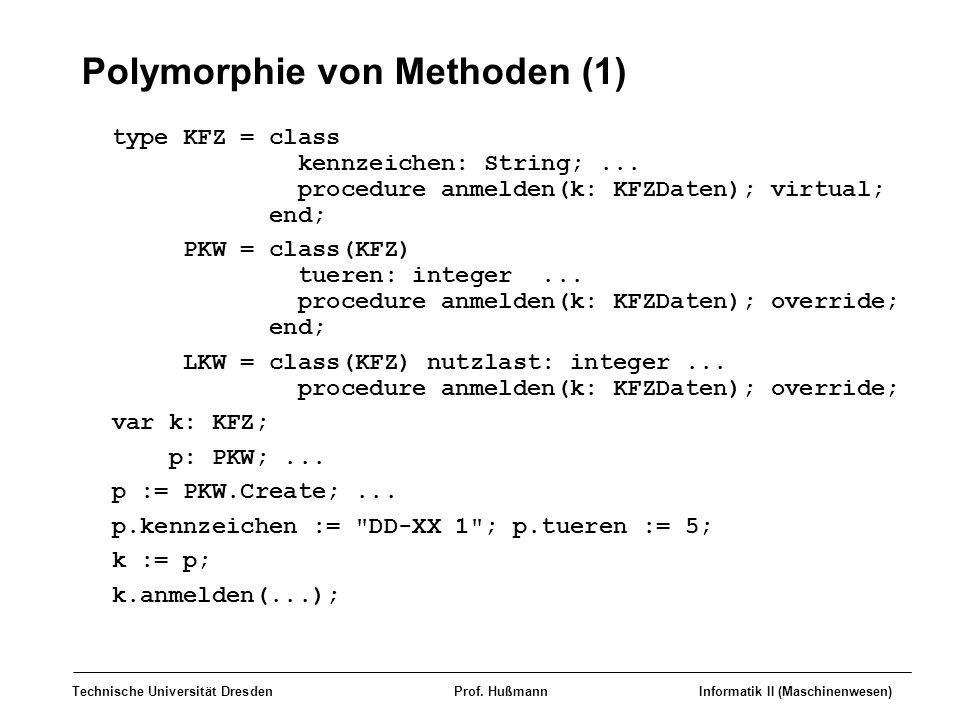 Polymorphie von Methoden (1)