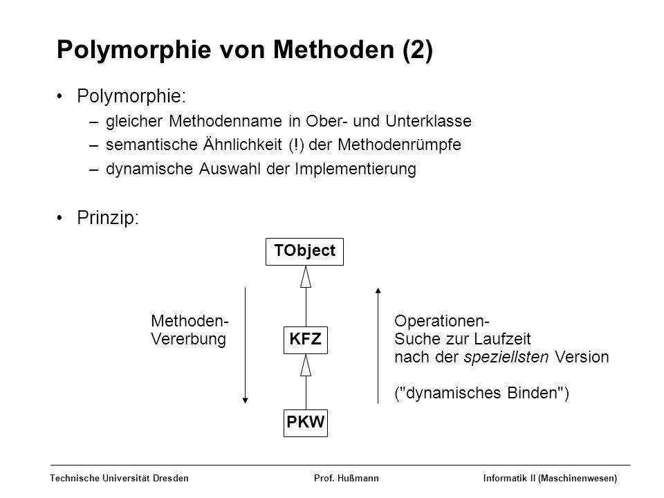 Polymorphie von Methoden (2)