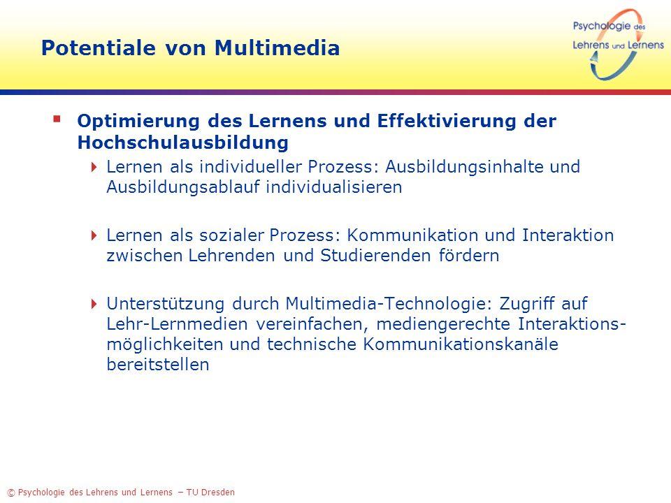 Potentiale von Multimedia