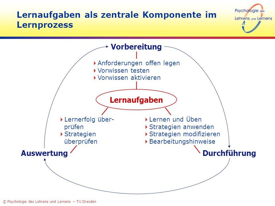 Lernaufgaben als zentrale Komponente im Lernprozess
