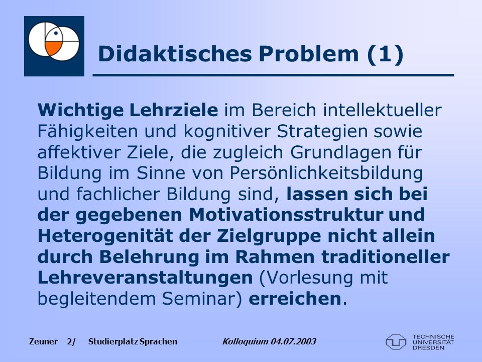 Didaktisches Problem (1)