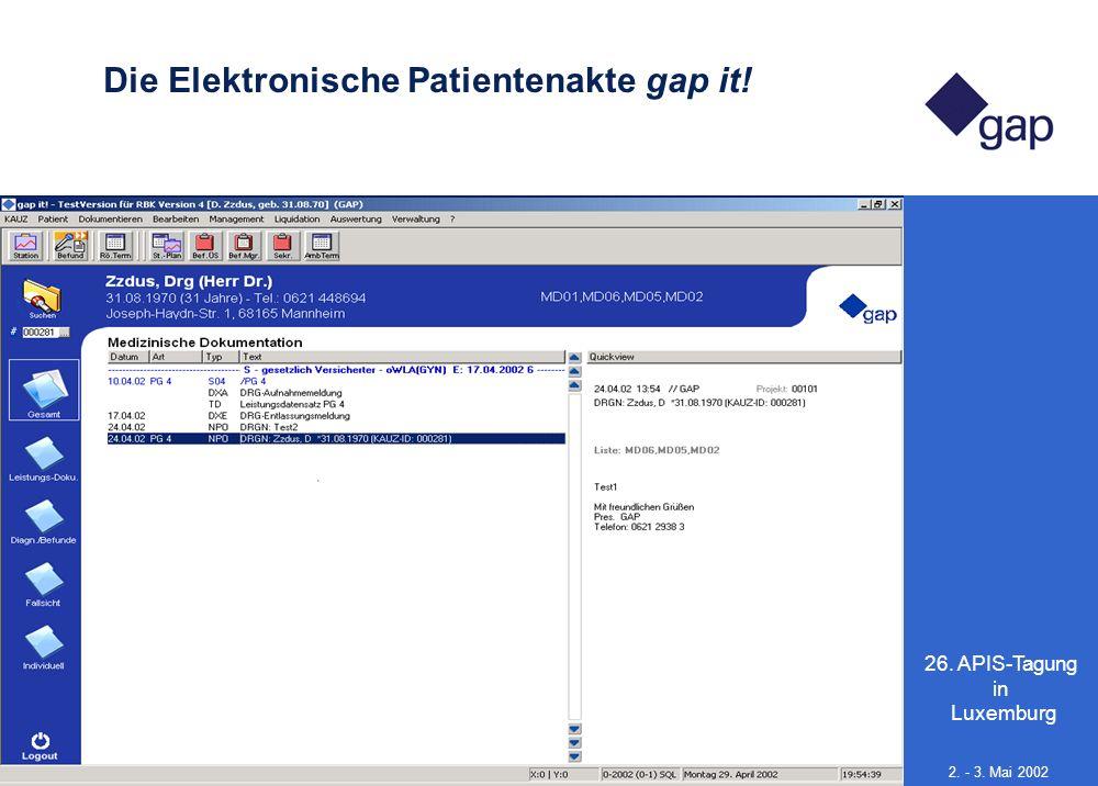 Die Elektronische Patientenakte gap it!