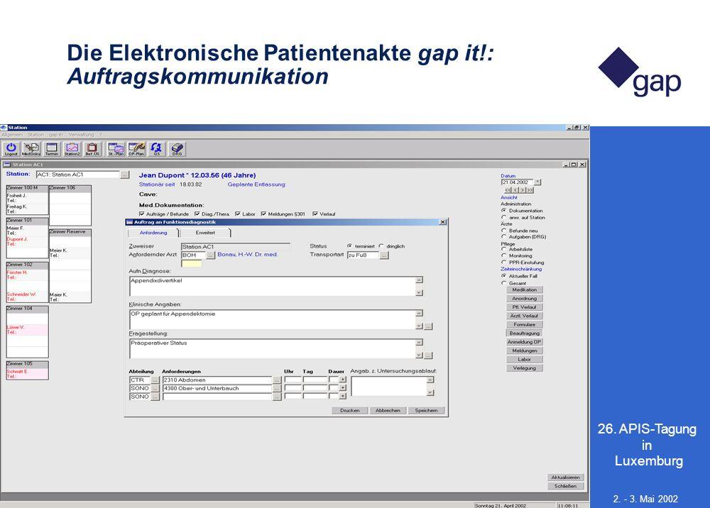 Die Elektronische Patientenakte gap it!: Auftragskommunikation