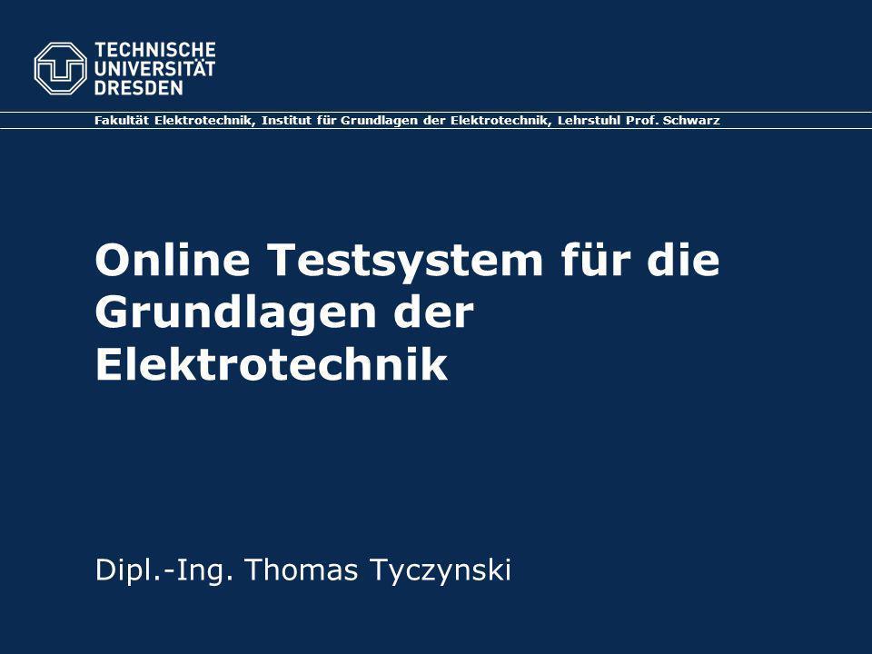 Online Testsystem für die Grundlagen der Elektrotechnik