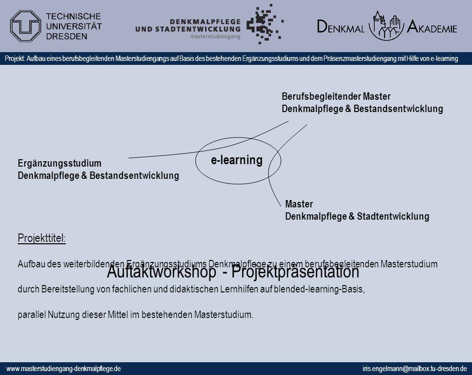 Auftaktworkshop - Projektpräsentation