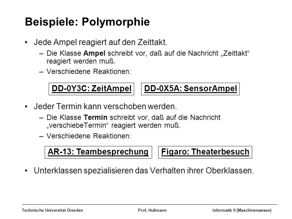 Beispiele: Polymorphie