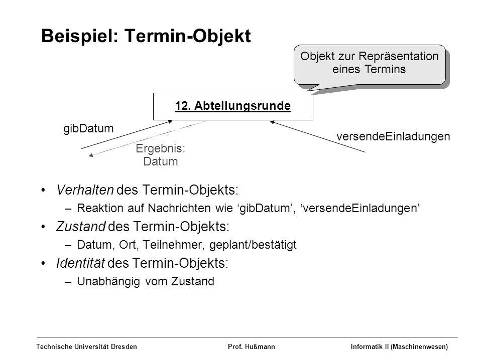 Beispiel: Termin-Objekt