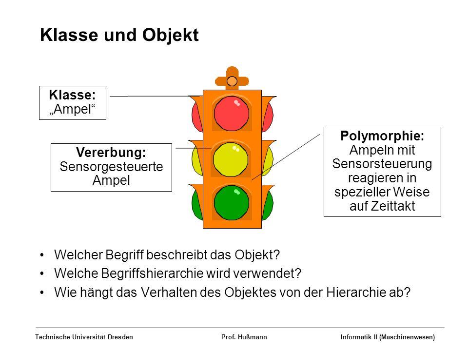 """Klasse und Objekt Klasse: """"Ampel Polymorphie:"""