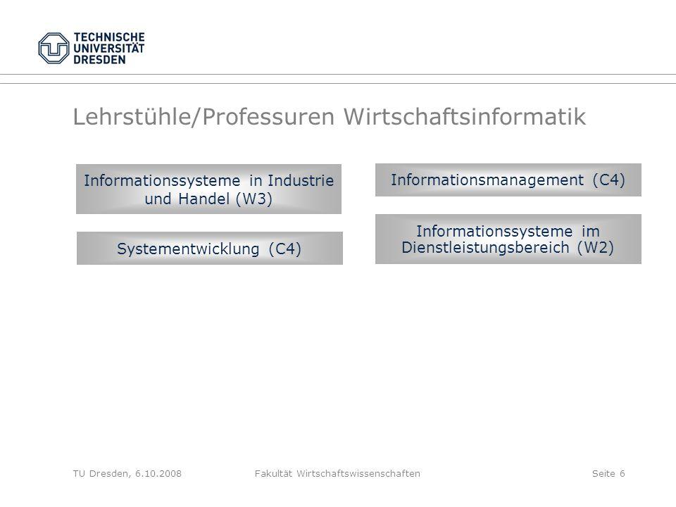 Lehrstühle/Professuren Wirtschaftsinformatik