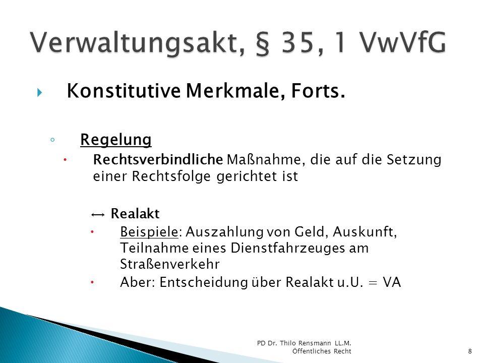 Verwaltungsakt, § 35, 1 VwVfG