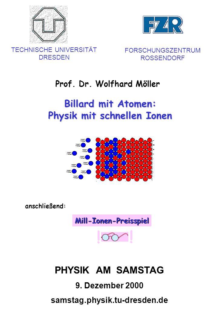 Physik mit schnellen Ionen Mill-Ionen-Preisspiel