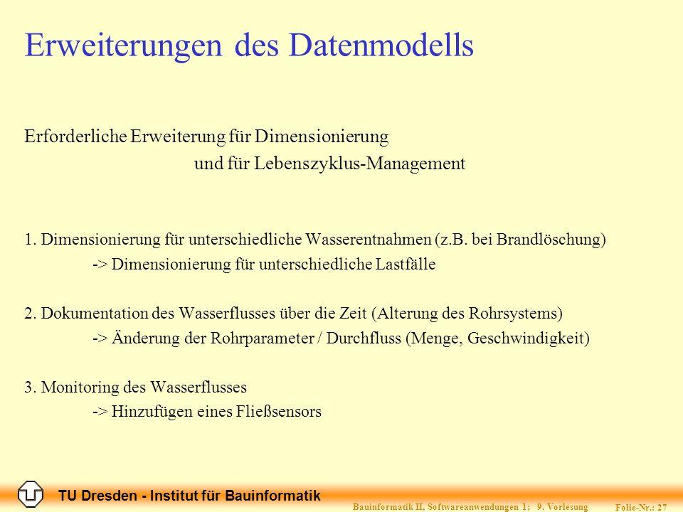 Erweiterungen des Datenmodells