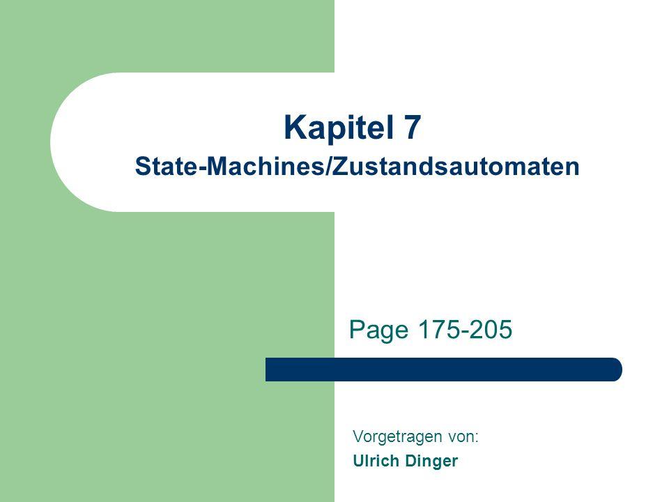 Kapitel 7 State-Machines/Zustandsautomaten