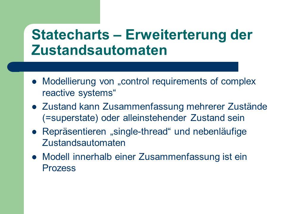 Statecharts – Erweiterterung der Zustandsautomaten