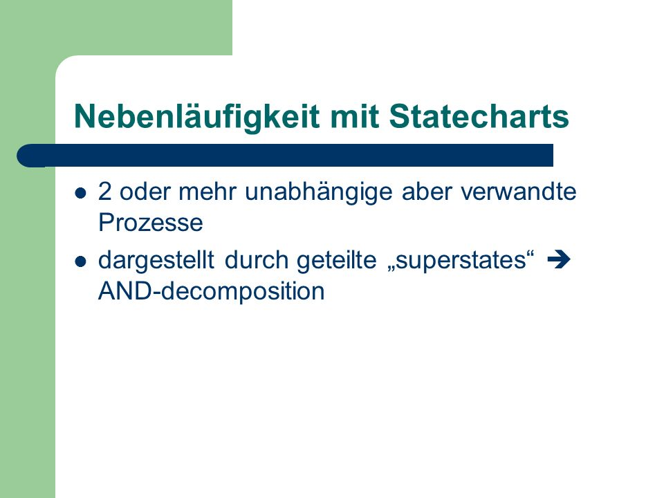 Nebenläufigkeit mit Statecharts