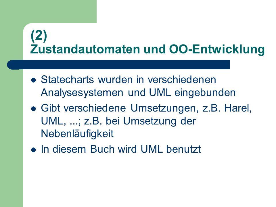 (2) Zustandautomaten und OO-Entwicklung