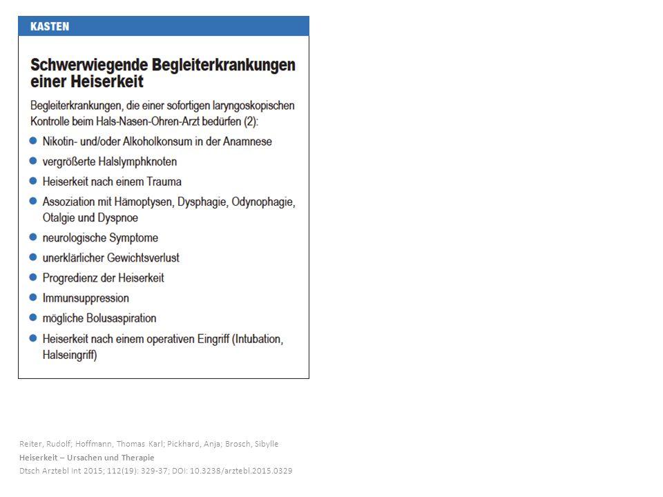 Reiter, Rudolf; Hoffmann, Thomas Karl; Pickhard, Anja; Brosch, Sibylle