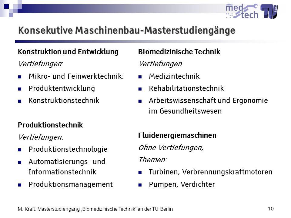 Konsekutive Maschinenbau-Masterstudiengänge