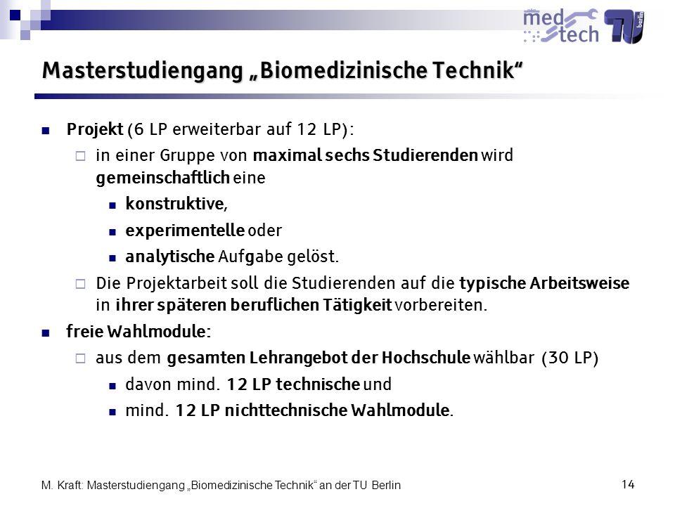 """Masterstudiengang """"Biomedizinische Technik"""