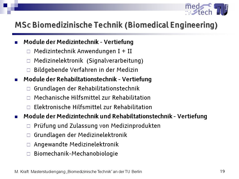 MSc Biomedizinische Technik (Biomedical Engineering)