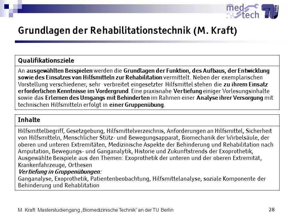 Grundlagen der Rehabilitationstechnik (M. Kraft)