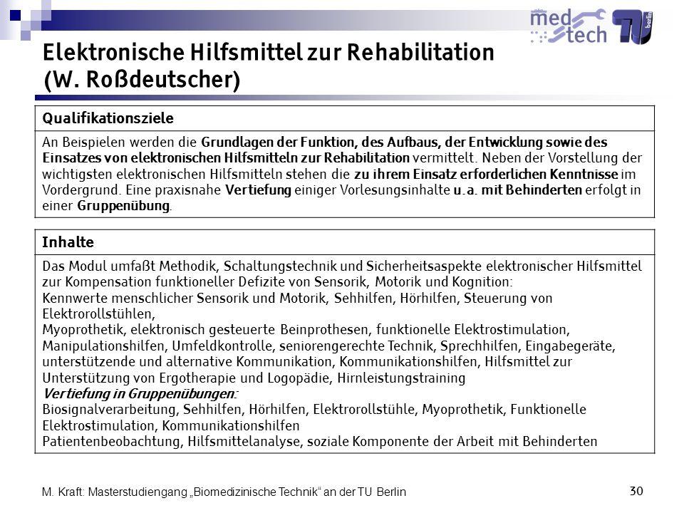 Elektronische Hilfsmittel zur Rehabilitation (W. Roßdeutscher)