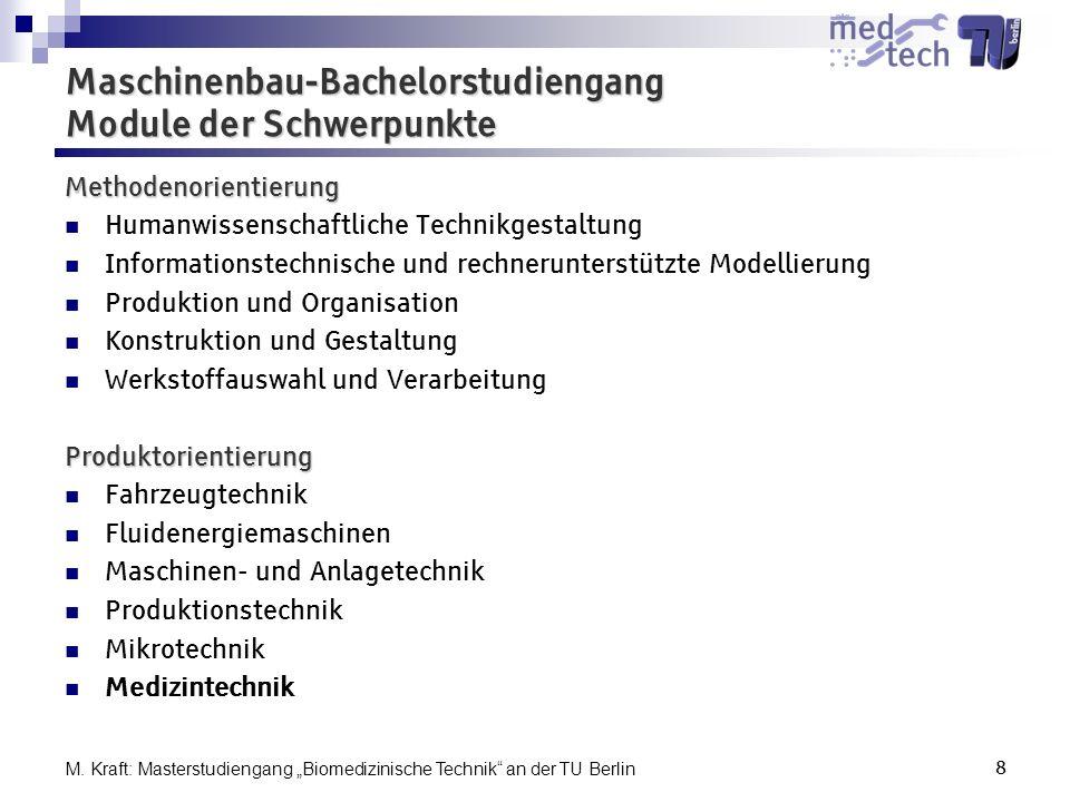 Maschinenbau-Bachelorstudiengang Module der Schwerpunkte