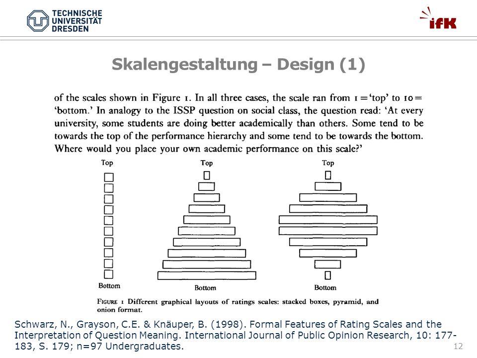 Skalengestaltung – Design (1)