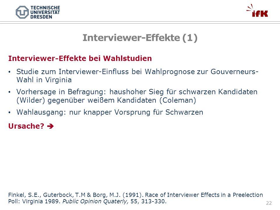 Interviewer-Effekte (1)
