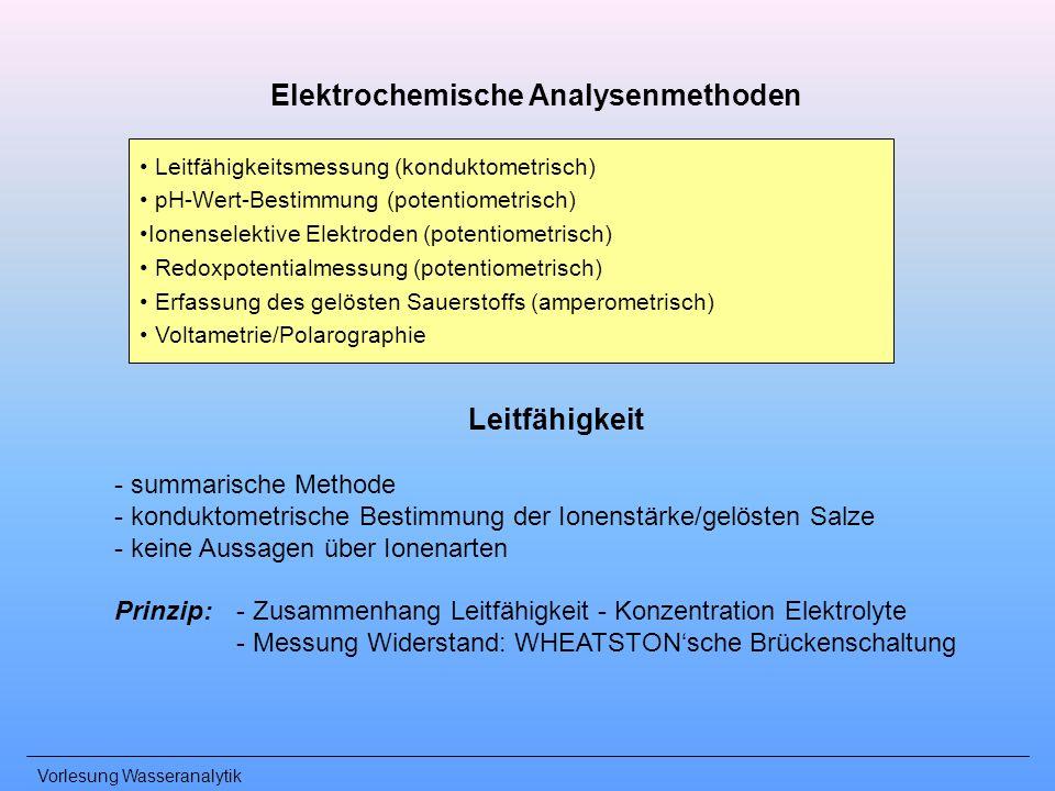 Elektrochemische Analysenmethoden