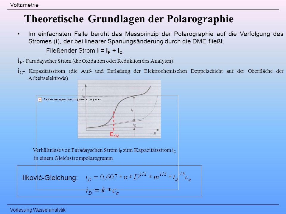 Theoretische Grundlagen der Polarographie