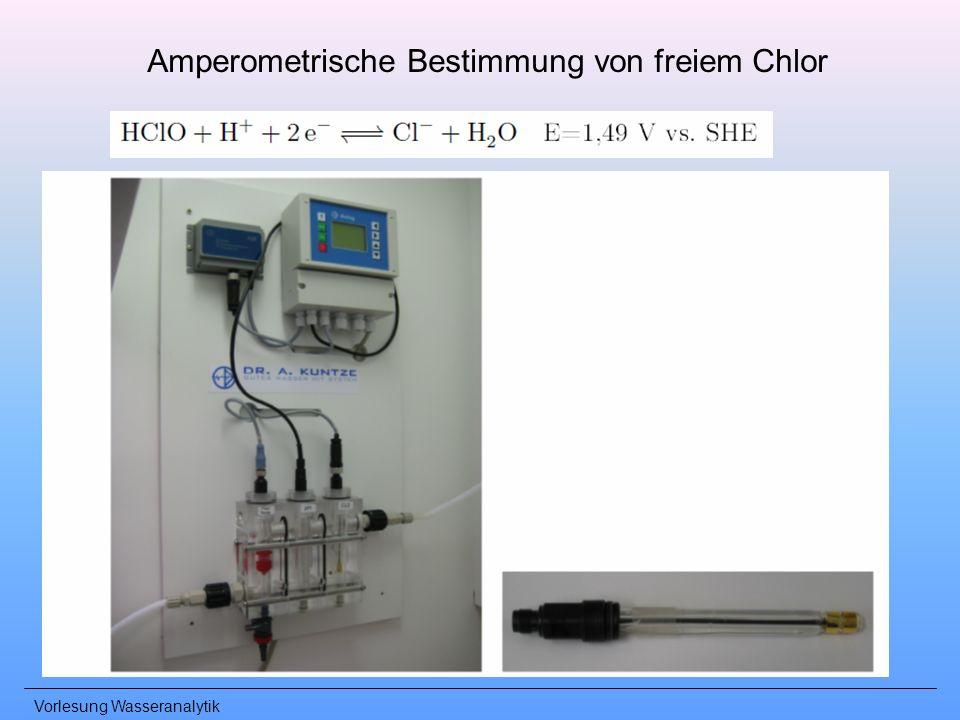 Amperometrische Bestimmung von freiem Chlor