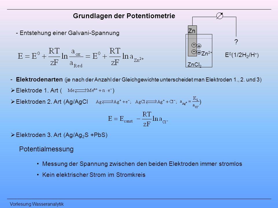 Grundlagen der Potentiometrie