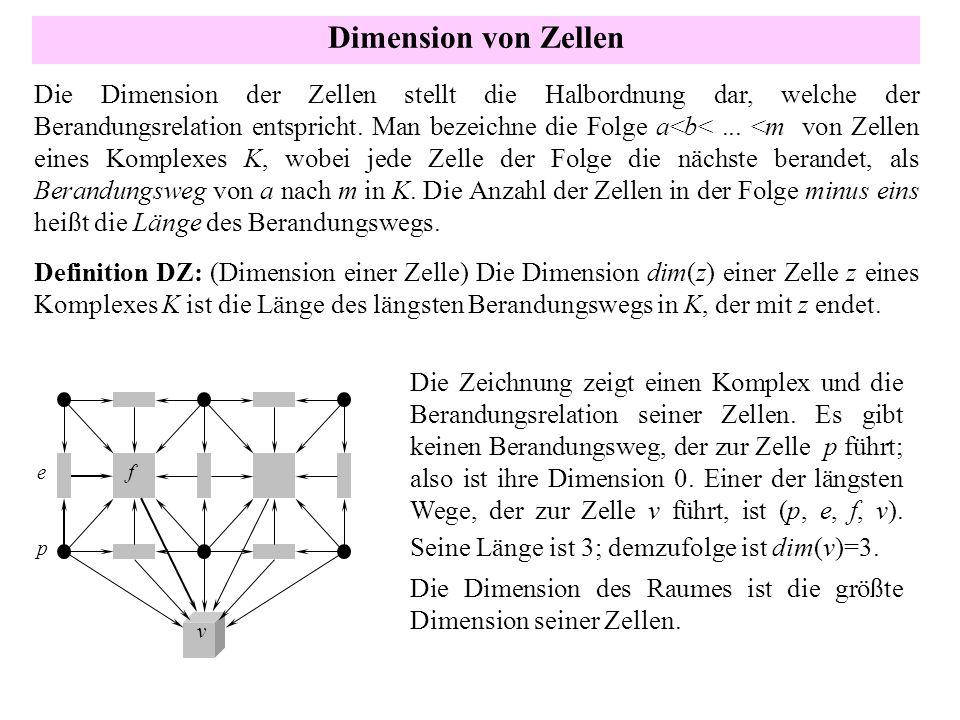 Dimension von Zellen