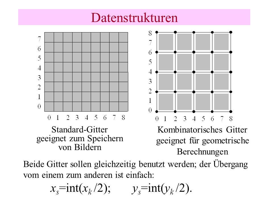 Datenstrukturen xs=int(xk /2); ys=int(yk /2).
