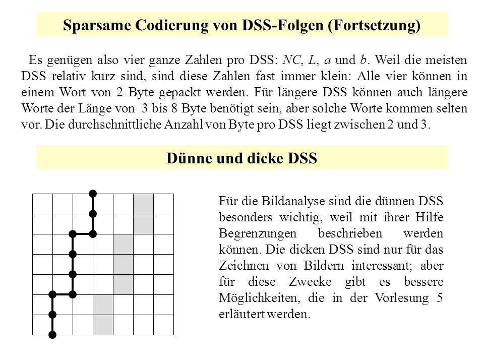 Sparsame Codierung von DSS-Folgen (Fortsetzung)