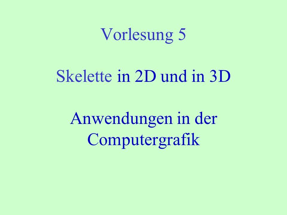 Vorlesung 5 Skelette in 2D und in 3D Anwendungen in der Computergrafik