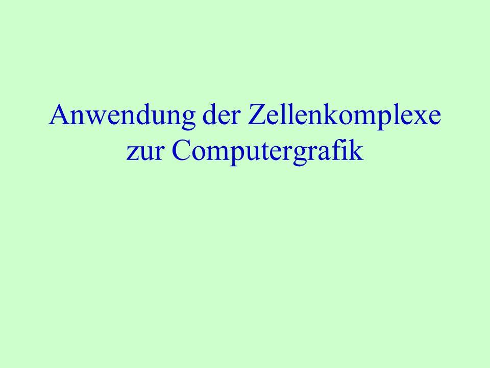 Anwendung der Zellenkomplexe zur Computergrafik