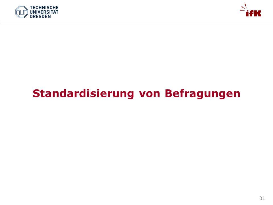 Standardisierung von Befragungen