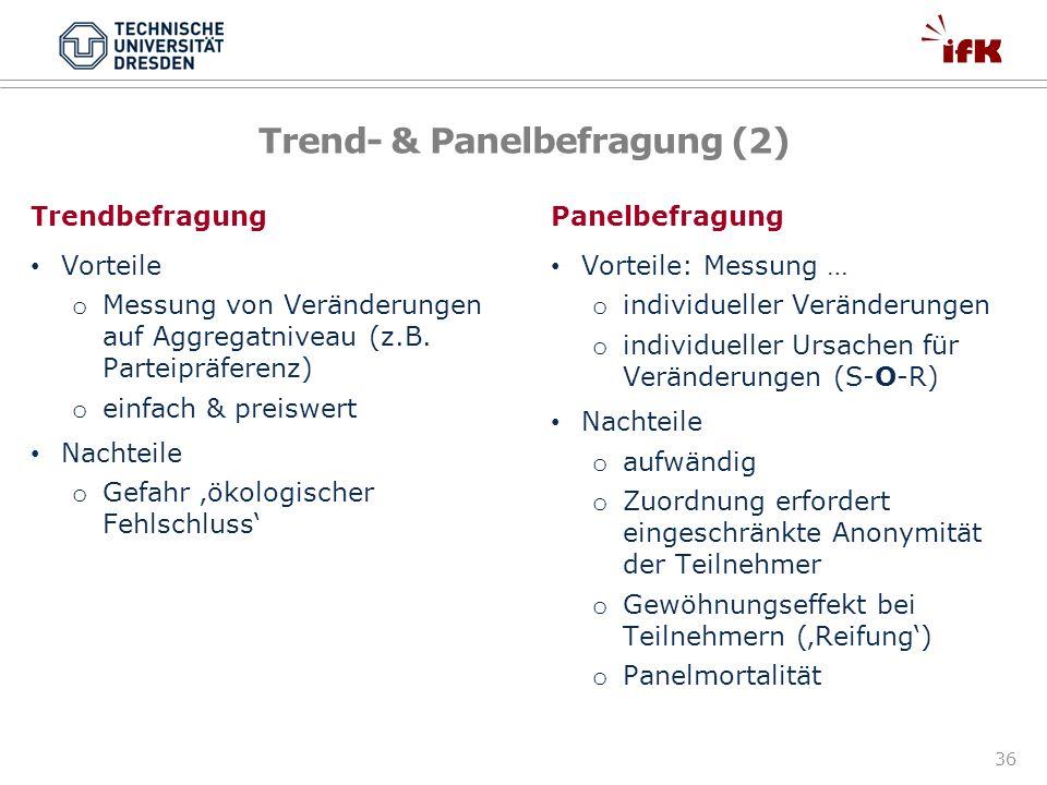 Trend- & Panelbefragung (2)